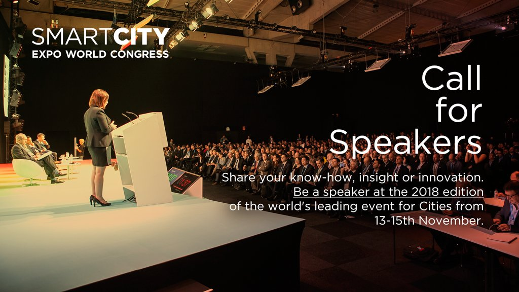Do you want to be speaker at the Smart City Expo World Congress 2018