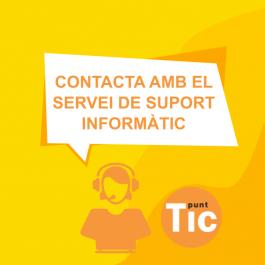 Contate suport Informàtic