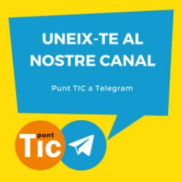 Uneix-te al nostre canal de Telegram!