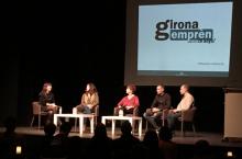 Taula rodona amb experiències emprenedores que es van presentar a la mostra emprenedora pels 10 anys de Girona Emprèn