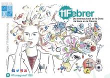 Cartell activitats de l'Associació per a la Divulgació Científica al Camp de Tarragona pel Dia Internacional de la Dona i la Nena en la Ciència 2020