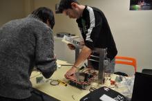 Taller de muntatge d'una impressora 3D
