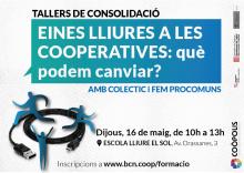 Imatge per difondre el taller sobre eines de tecnologia lliure per a cooperatives