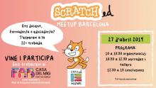 Cartell de la 22a Trobada ScratchEd Meetup Barcelona