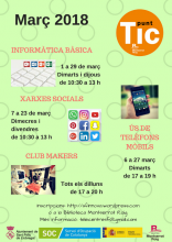 Poster of the trainig program of Sant Feliu Innova