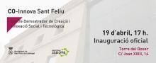 Anunci de la inauguració de CO-Innova Sant Feliu