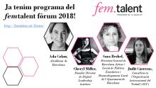Ponentes del femTalent Fòrum 2018