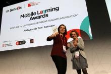 Moment de la cerimònia de lliurament de premis del mSchools Mobile Learning Awards 2017