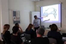 Jesús Arbués al taller que va fer a la IX Jornada Punt TIC i Presó
