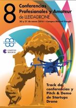 Cartell de les 8enes Conferències LleidaDrone