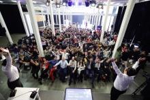 Fotografia de la cloenda de la Segona edició del Repte Barcelona Dades Obertes el passat 8 de maig de 2019 a la Fabra i Coats