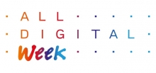 Logotip de l'ALL DIGITAL Week, basat en el logo de la xarxa ALL DIGITAL