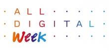Logotip de l'ALL DIGITAL Week, basat en el logo de la xarxa ALL DIGITAL