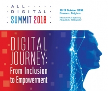 Cartell de l'ALL DIGITAL Summit 2018 2018