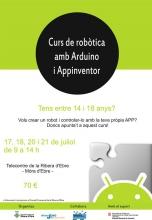 Cartell del Curs de robòtica amb Arduino i AppInventor