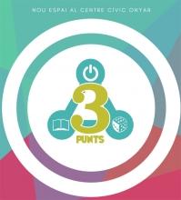 Logotip sobre impressió 3D a l'Òmnia Girona