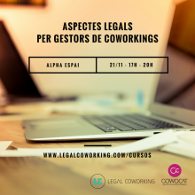 Course on legal issues for coworking managers