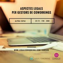 Aspectos legales para gestores de coworking