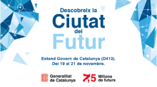 Banner de l'estand de la Generalitat de Catalunya durant l'Smart City Expo 2019