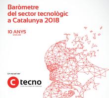 """Portada del """"Baròmetre del sector tecnològic a Catalunya 2018"""""""