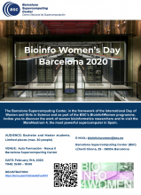 Cartell del programa Bioinfo4women del Barcelona Supercomputing Center