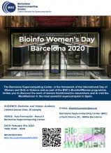 Cartell del programa Bioinfo4women del Barcelona Supercomputing Center
