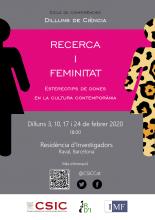 Cartell del cicle sobre dones i ciència de la Residència d'Investigadors