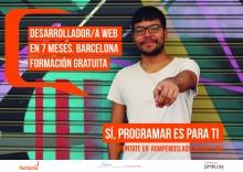 Cartell promocional de la segona edició del curs de desenvolupament web de Factoría F5