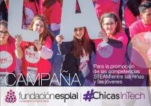 Cartell de la segona edició de la campanya de sensibilització #ChicasInTech