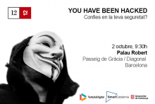 Cartell de la jornada sobre ciberseguretat al Palau Robert