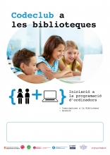 Cartell de Code Club a les biblioteques