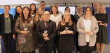 Foto amb les guardonades als European Ada Awards 2016