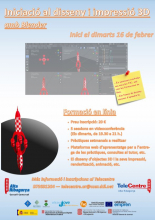 Poster of the initiation training in design and 3D printing of the TIC Alta Ribagorça Point