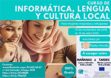 Cartell del curs 'Informàtica, llengua i cultura local'