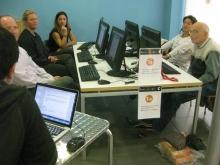 Participants en el curs 'El teletreball i les noves formes de treball (coworking)' que s'ha impartit al Punt TIC de Calella