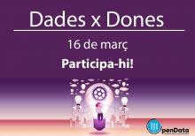 Cartell de la segona hackató Dades X Dones