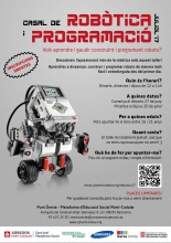 Summer camp of robotics and programming, in the Òmnia Martí Codolar