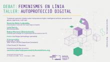 Cartell del taller-debat  'Feminismes en línia: autoprotecció digital'