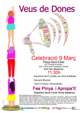 Cartell Dia Internacional de les Dones 2020 a la Xarxa Òmnia de Badalona