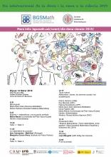 Cartell del Dia Internacional de la Dona i la Nena a la Ciència 2019 a l'Institut d'Estudis Catalans