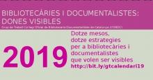 Campanya de GT Dones Visibles: 'Dotze mesos, dotze estratègies per a bibliotecàries i documentalistes que volen ser visibles'