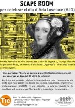 Cartell del 'scape room' sobre dones i STEM del Punt TIC Palau-solità i Plegamans