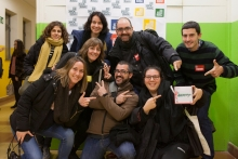 Group photo of people who participated in the presentation of EDhack Raval