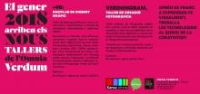Cartell dels tallers creatius a l'Òmnia Verdum