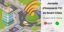 Cartell de la Jornada d'innovació TIC en Smart Cities