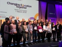 Foto de grupo de los mSchools Mobile Learning Awards 2018