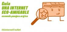 """Imatge de la guia-web """"Una Internet Eco-Amigable"""" de Pangea"""