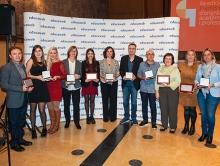 Foto de grup del lliurament dels Premis Educaweb 2016