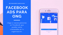 Cartell del meetup sobre Facebook i Instagram Ads de NetSquared