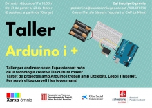 Workshop on Arduino i +, in l'Òmnia PES La Mina